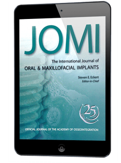 JOMI. The International Journal of Oral & Maxillofacial Implants